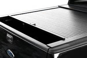 Tonneau Covers For Trucks With Low Profile Tool Boxes Retractable Tonneau Covers Power Aluminum Low Profile