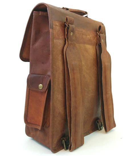 handmade leather backpack isle of vintage
