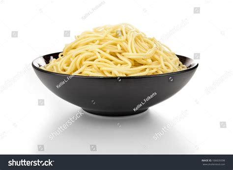 bowl pasta  white background stock photo