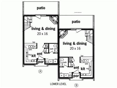 duplex narrow lot floor plans 14 narrow lot duplex house plans ideas house plans 21345