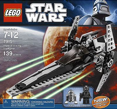 Lego Imperial Vwing Pilot Wars lego wars imperial v wing starfighter le7915 lego