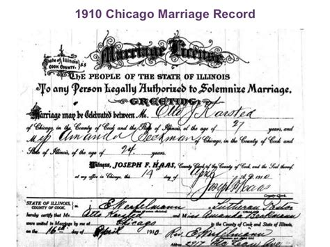 Chicago Marriage Records Vital Records