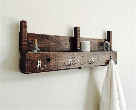 wood bathroom towel racks pallet towel rack for bathroom pallet wood projects