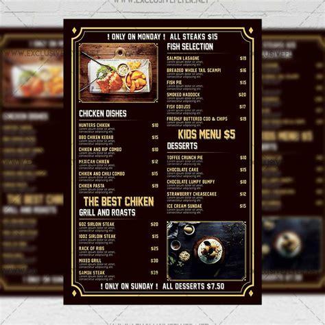 restaurant menu templates free printable vastuuonminun