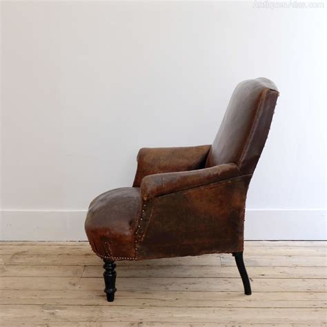 leather reading chair french leather reading chair antiques atlas