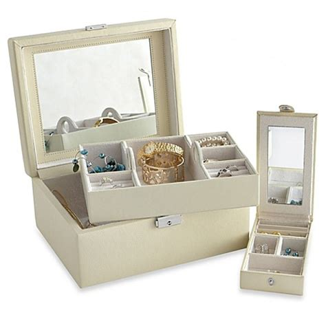 jewelry box bed bath and beyond buy somerset mirror jewelry box from bed bath beyond