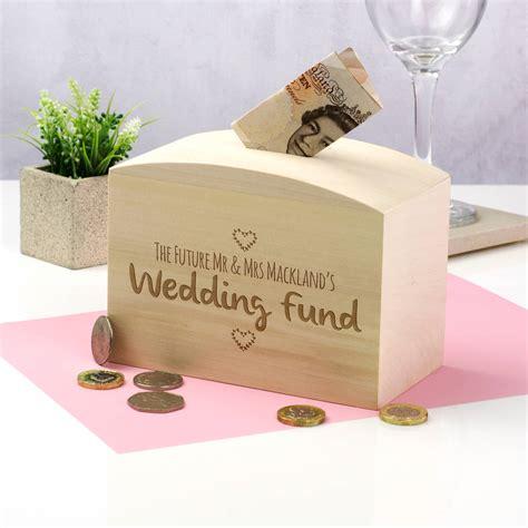wedding money box wedding fund wooden money box by mirrorin