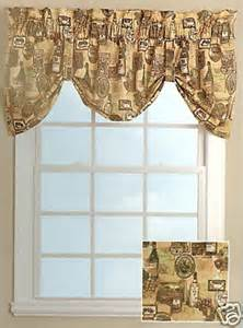 Decor and more tuscany bistro wine grapes lined tie up valance