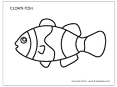 clown fish coloring pages printable coral reef fishes printable templates coloring pages