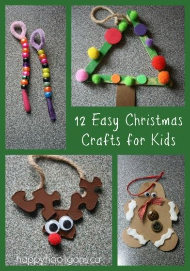 simple craft for christamas celebrationo 12 easy crafts for toddlers happy hooligans