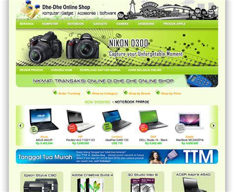 template blog toko online sederhana desain web tutorial contoh desain web toko online e