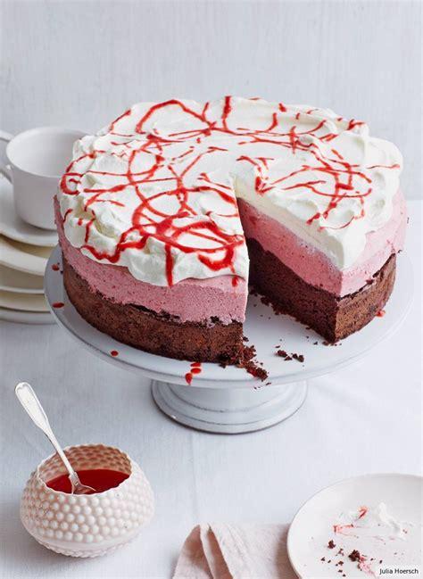 schoko erdbeer vanille torte rezept essen und trinken