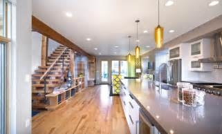 Lighting For Island In Kitchen Denver House Features Pharos Pendant Lights Kitchen Island