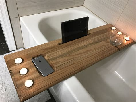 bathtub tray wood diy wood bath tray diy do it your self