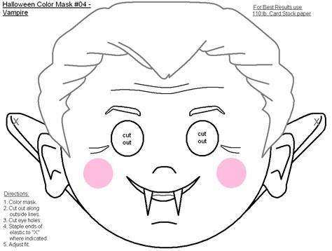 printable halloween masks free coloring pages of cut out masks