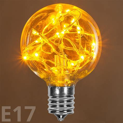 G50 Gold LEDimagine TM Fairy Light Bulb, E17 Base