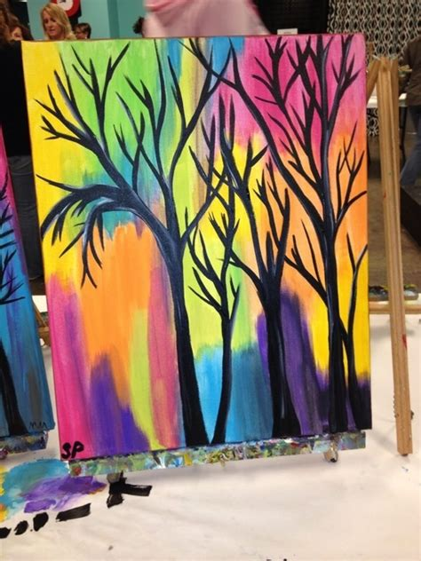 can you paint acrylic on canvas 40 easy canvas painting ideas for