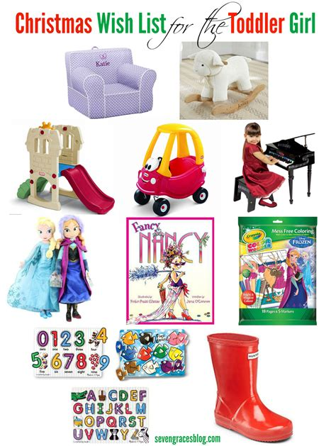seven graces christmas wish list for the toddler