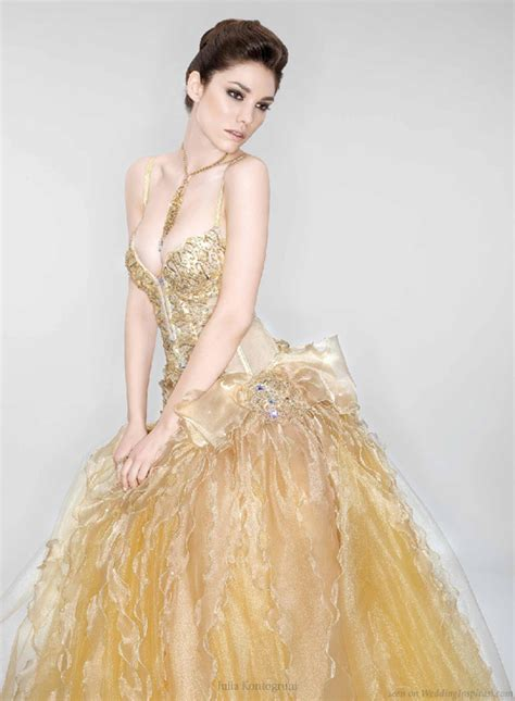 Gold Wedding Dresses by She Fashion Club And Gold Wedding Dresses