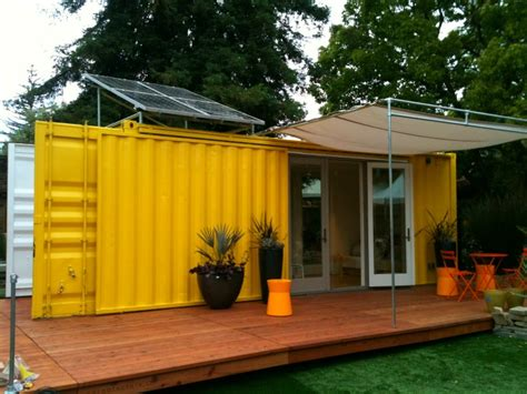 Small Homes Made From Shipping Containers Sunset Idea House Hybrid Architecture S Yellow Shipping