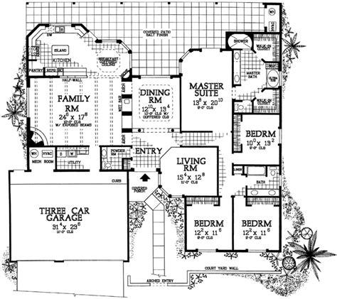 Santa Fe Style House Plans by Santa Fe Pueblo House Plans