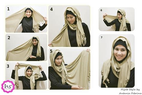 tutorial jilbab indah nevertari hijab style muslimah style hijab modern