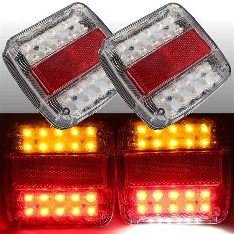 12v Led Caravan Truck Trailer Stop Rear Tail License Plate Truck Led Light Bulbs