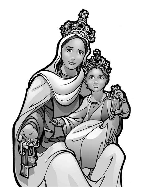 dibujo de vidriera de la virgen mar繝箝a con jes繝篌s para nuevo imagenes de la virgen maria para colorear para ni 241 os