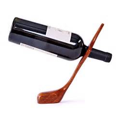 wine holder golf club balancing wine bottle holder mahogany