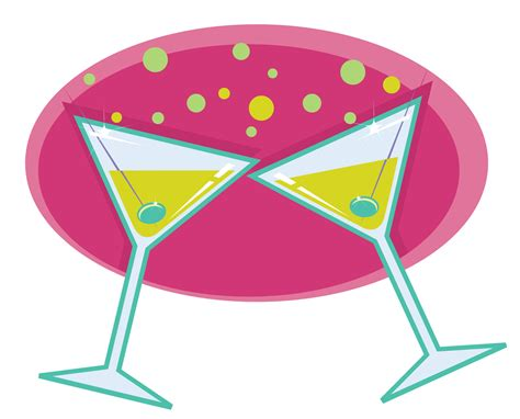 martinis cheers cheers cocktails clipart