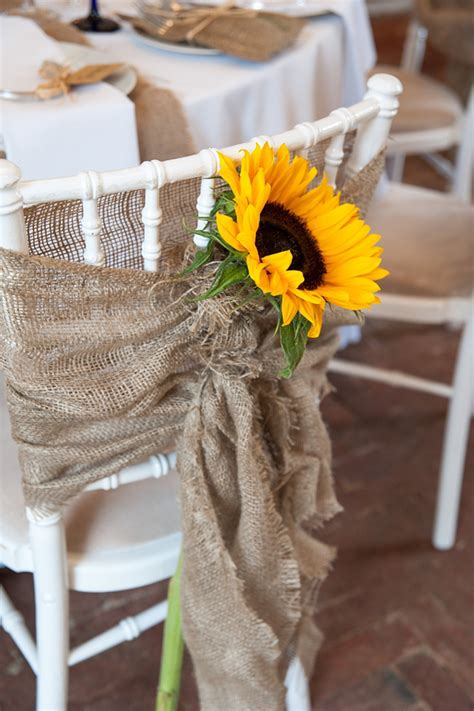 diy Wedding Crafts: Burlap Sunflower Chair Covers ? DIY Weddings Magazine