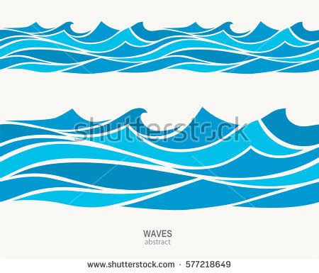 wave pattern en francais marine seamless pattern stylized blue waves stock vector