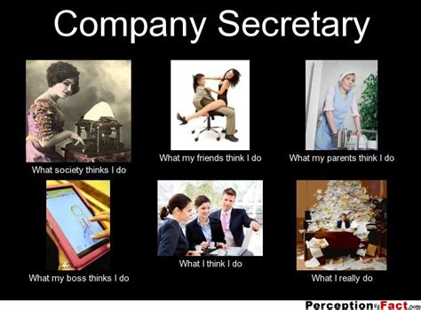 what is a secretary company secretary what people think i do what i