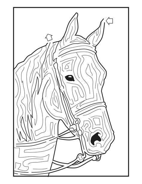 printable horse maze 11 best images of fun maze worksheets printable free