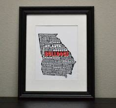 georgia bulldog home decor georgia bulldogs art print georgia bulldogs quote poster