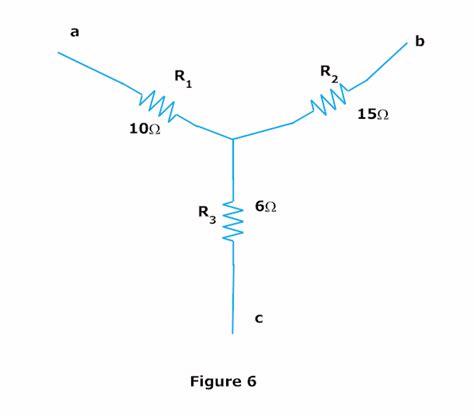 resistor y dan delta delta to wye and wye to delta conversion electrical circuits