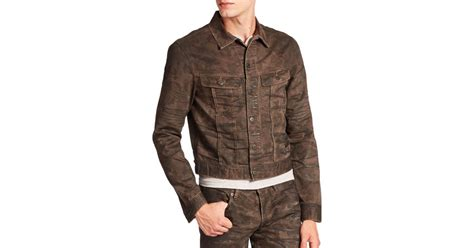 Trucker Denim Jacket In Brown polo ralph camouflage denim trucker jacket in brown