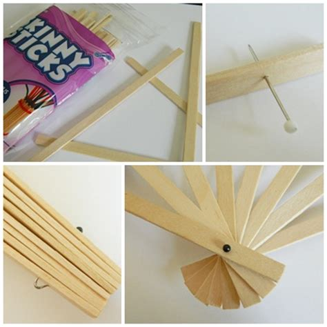 How To Make A Paper Fan On A Stick - paper pendulum paper fans