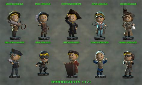 bobblehead fallout 4 institute bobblehats fo4 edition at fallout 4 nexus mods and community