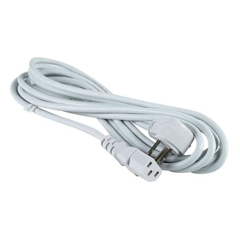 grounded power cable 12 foot grounded power cord white radioshack
