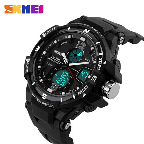Dijamin Jam Tangan Digital Skmei Sport Rubber Led 1145 skmei brand luxury digital and analog sports fashion led casual swim
