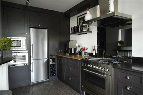 cuisine noir et gris cuisine noir et gris