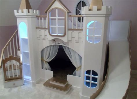 Castle Loft Bed by New Custom Princess Catarina Castle Loft Bunk Bed Indoor