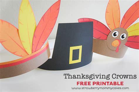 printable turkey hats thanksgiving turkey indian and pilgrim crowns
