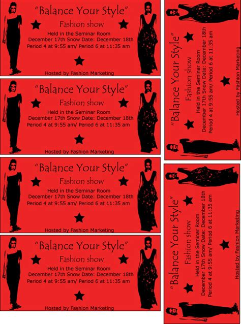 show ticket template fashion show ticket by fmagirl727 on deviantart