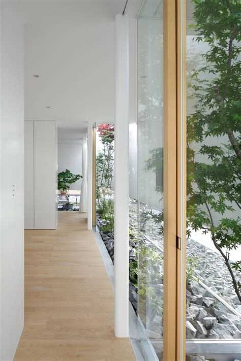 interior glass walls for homes house with floating facade glass walls and interior courtyard