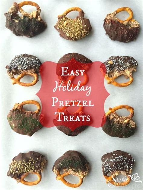 Cocktail Party Dessert - easy chocolate covered pretzel treats holiday party dessert ideas sypsie designs
