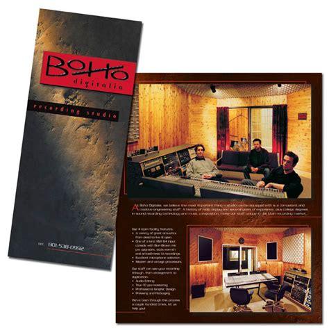Design Studio Brochure by Recording Studio Brochure Kicbal Design