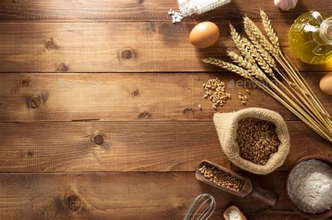 bakery products  wood  seregam bakery products  wooden backgroundwood products