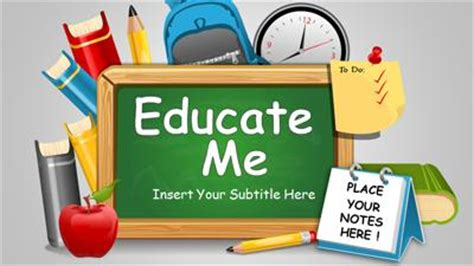 educate me a powerpoint template from presentermedia com